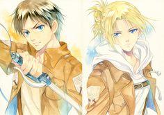 Eren Jaeger x Annie Leonhardt / Leonhart   EreAnnie / ErenAnnie / EreAnni   Titan Shifters   Attack on Titan / Shingeki no Kyojin AoT / SnK   Anime manga couple fanart   OTP