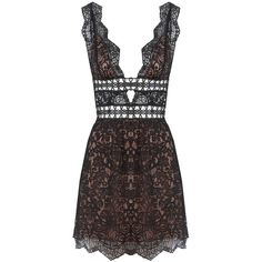 For Love and Lemons Mon Cheri Mini Dress Noir (€425) ❤ liked on Polyvore featuring dresses, holiday party dresses, cocktail dresses, sexy short dresses, sexy mini dress and short evening dresses
