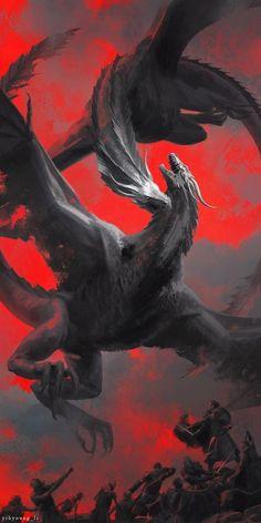 Бой двух драконов (королева Эрафии против короля Таталии)