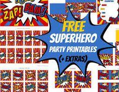 classic superhero printables - Buscar con Google