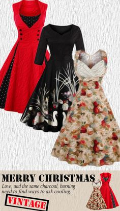 Merry Christmas-Vintage Dress