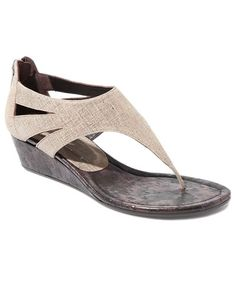 """I've been in love with this shoe for over a year..it's the perfect walking around shoe for the summer!!!  Donald J Pliner Women's """"Decima"""" Leather Thong Sandal"""