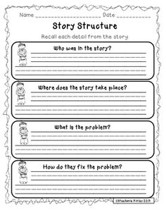 Teachers pay teachers thanksgiving story structure thanksgiving story