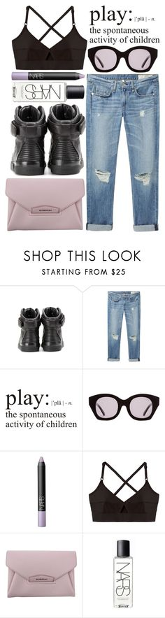 """I can't get you off of my head like FASHION ;)"" by miss-magali-mnms ❤ liked on Polyvore featuring Givenchy, rag & bone/JEAN, WALL, Karen Walker, NARS Cosmetics and Base Range"