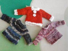 てあみ日和。: Opal毛糸で編める、ミニチュア・セーターの編み方。
