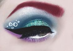 If You Love Disney, These Magical Makeup Looks Will Make You Swoon - Famous Last Words Purple Makeup Looks, Soft Makeup Looks, Glitter Makeup Looks, Peach Makeup, Creative Makeup Looks, Blush Makeup, Silver Makeup, Pastel Makeup, Green Makeup