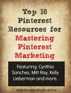 Pinterest marketing - blogs that cover Pinterest marketing tips