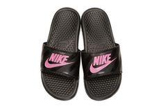 buy online 89943 6433a Nikes Benassi Slides Get a Hot Pink Swoosh Nike Benassi Latest   trending N  - Nike