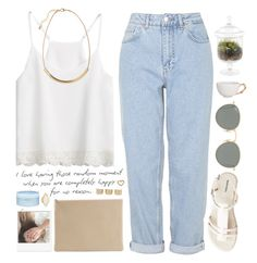 """""""You are my happiness"""" by pantelle ❤ liked on Polyvore featuring Prada, Arts & Science, Boutique, H&M, Marc by Marc Jacobs, Juliska, Dot & Bo, HEATHER BENJAMIN, Ray-Ban and Aveda"""