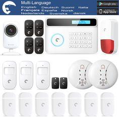 1 set home security 6 wireless zone and 4 wire zone sms gsm alarm rh pinterest com Motion Sensor Light Switch Motion Sensor Wiring Diagram 3-Way