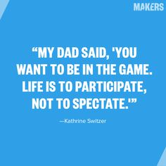 She wanted to be a cheerleader until dad encouraged her to get in the game. @KVSwitzer http://aol.it/1nHYhuA