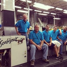 Say hello to our handsome #printing facility guys!! Don't they look good in their #PostcardMania polos!?!