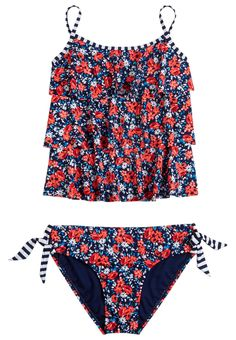 Floral Tankini Swimsuit