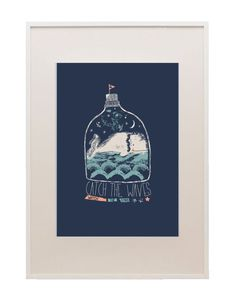 Whale - art print by paper and cloth (available in big cartel shop)