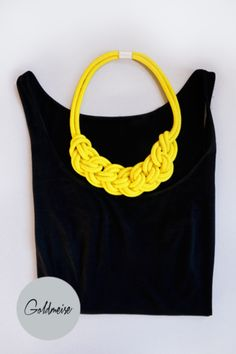 Statement-Kette aus handgefärbtem Seil // Rope necklace by Goldmeise via DaWanda.com