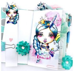 Planner Setup using Cre8tive Cre8tions Designs Clearstamps & Printables by Andrea Gomoll - unicorn Planner, Planner Inserts