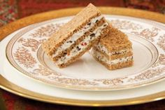 Olive-Pecan Finger Sandwiches