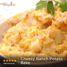 """Cheesy Ranch Potato Bake 