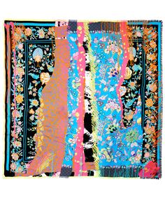Liberty London Expressionist Tree of Life Silk Twill Scarf | Accessories | Liberty.co.uk
