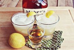 Whiskey Sours, BeautifulMess (whiskey, lemons, limes, powdered sugar)
