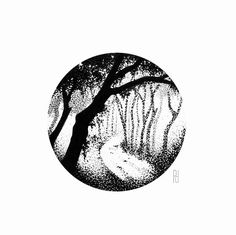 #tree #forest #landscape #woods #path #park #adventure #nature #wild #art #drawing #illustrator #illustration #design #designer #tattooidea #tattoo #blackwork #blackart #linework #dotwork #dotart #pointlism #instaart #day060 #pp