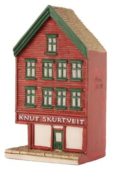 "Bryggen I Bergen, ""Skurtveit"" - Lillesand Design AS Miniature Houses, Norway, Gingerbread, Holiday Decor, Handmade, Design, Home Decor, Hand Made, Decoration Home"