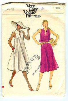 1980s vintage dress pattern. Gorgeous.