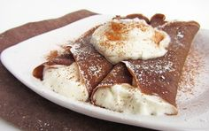 gingerbread crepes with eggnog whip cream