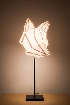 The Vienna-based Etsy store MostLikelyShop is currently selling an unexpected range of DIY paper lamps. The foldable kits come inside a tube which contain instructions on folding, gluing and constructing the lamps. Lampshade Kits, Paper Lampshade, Lampshades, Origami Lampshade, Diy Origami, Do It Yourself Lampe, Luminaria Diy, Diy Luminaire, Paper Animals