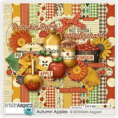 Digital Scrapbook Kit - Autumn Apples | Kristin Aagard Designs | Regular Price: $4.00