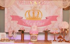 Little Ballerina Party Backdrop pink and gold choose your Birthday Crafts, Gold Birthday, Birthday Party Decorations, 5th Birthday, Birthday Ideas, Party Kulissen, Tutu Party, Ideas Party, Presents For Bff