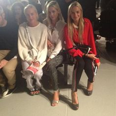 Front Row at the Rodarte show with Claire, Jenna, and Virginie @ NEW YORK FASHION WEEK     http://beautyflashblog.com/fashion/143/new-york-fashion-week-diary-day-three?utm_source=Pinterest_medium=Post_campaign=BFB