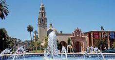 """Balboa Park is one of the most widely photographed destinations in San Diego, and for good reason: It's simply stunning!    Created in 1868 as a 1,200 acre overlook of the ambitious project that relocated San Diego's business and political center to its current location, the lush landscaped beauty, with its art and cultural institutions and green-space, is the largest urban cultural park in the United States and often referred to as the """"Smithsonian of the West."""""""