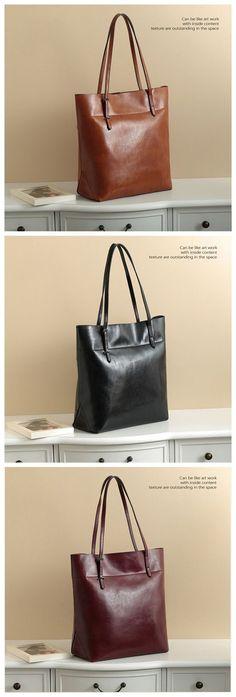 Handmade Genuine Leather Women s Fashion Tote Handbag Shoulder Bag 14149 Womens  Tote Bags e14794393