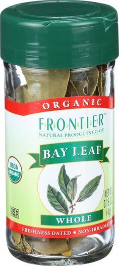 Frontier Herb Bay Leaf - Organic - Whole - .15 oz