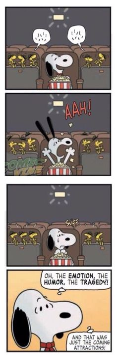 Snoopy goes to the Movies with Woodstock❤️❤️