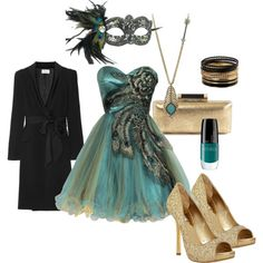 """""""Peacock masquerade"""" by littleredreiding on Polyvore. Everyone knows i love peacocks"""