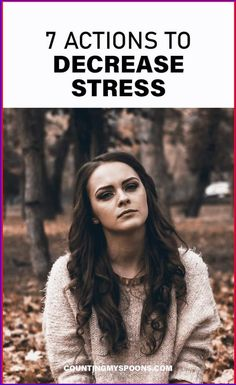 We contribute to our stress in many ways. Here are 7 actions you can take to decrease your stress. Chronic Stress, Chronic Illness, Chronic Pain, Fibromyalgia, Mental Health Conditions, Mental Health Matters, Mental Health Awareness, Managing Depression, Fighting Depression