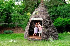 What a cool concept for a natural playhouse!
