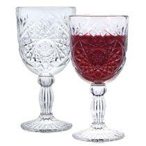 Goblets - cut glass.