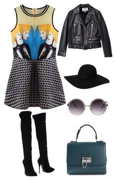 """Fashonista"" by lyricjones17 ❤ liked on Polyvore featuring Giuseppe Zanotti, Dolce&Gabbana, Quay, Acne Studios and Monki"