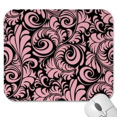 Mouse Pad in Pink and Black.