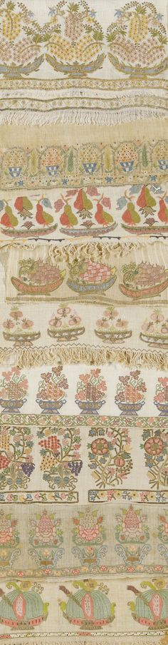 'fruit' a group of 18th and 19th Century ottoman towels and embroideries • auctioned at Sotheby's