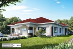 New Flat Roof House Plans with Photos . New Flat Roof House Plans with Photos . Woodland Grey Colorbond Roof and Rendered Single Builders Modern Bungalow House Plans, House Plans Uk, Bungalow Haus Design, Family House Plans, Luxury House Plans, Modern Bungalow Exterior, Duplex Design, Two Bedroom House Design, Four Bedroom House Plans