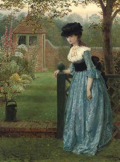 "monsieurleprince: "" George Dunlop Leslie (1835 - 1921) - Clarissa, 1865 """