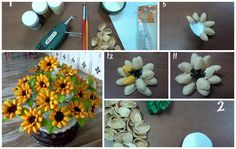 craft ideas with pista shells 1000 ideas about shell flowers on pistachio 6340