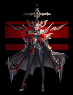 ArtStation - Attack, TaeKwon Kim / A-rang Fantasy Female Warrior, Female Armor, Female Knight, Fantasy Demon, Female Character Concept, Fantasy Character Design, Character Design Inspiration, Character Art, Character Ideas