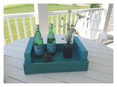 Nancy Tray - Seacoast Custom Furniture - rustic serving tray
