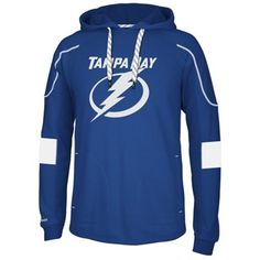 Reebok Tampa Bay Lightning Faceoff Edge Team Jersey Pullover Hoodie - Navy Blue