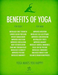 As if we needed more reasons to love yoga, here are more benefits of a regular practice! :)